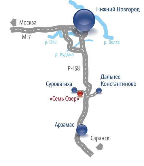 Схема проезда к экопоселку «